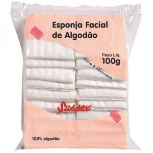 Esponja Facial de Algodão 100g - Sussex