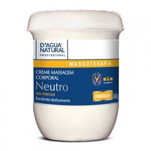 Creme de Massagem Corporal Neutro 650g - D'Agua Natural