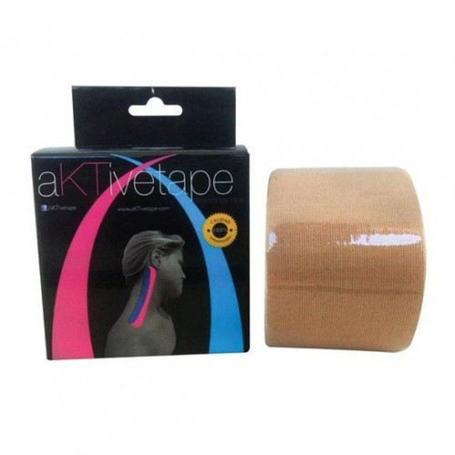 Bandagem Elástica/Kinésio Bege 5cmx5m - Aktive Tape