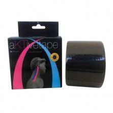 Bandagem Elástica/Kinésio Preto 5cmx5m - Aktive Tape