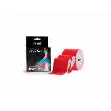 Bandagem Elástica/Kinésio Vermelho 5cmx5m - Aktive Tape